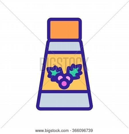 Elixir Bottle Of Hawthorn Icon Vector. Elixir Bottle Of Hawthorn Sign. Color Symbol Illustration