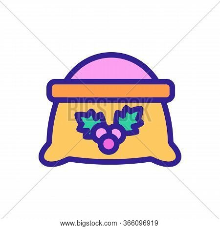 Sack Of Hawthorn Icon Vector. Sack Of Hawthorn Sign. Color Symbol Illustration