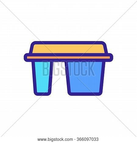 Different Departments Of Lunch Boxing Icon Vector. Different Departments Of Lunch Boxing Sign. Color