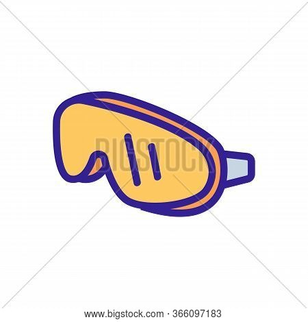 Reliable Piece Swimming Mask Icon Vector. Reliable Piece Swimming Mask Sign. Color Symbol Illustrati