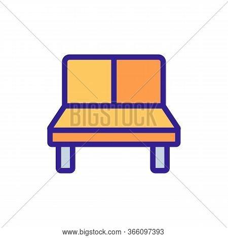 Lounge Sofa Icon Vector. Lounge Sofa Sign. Color Symbol Illustration