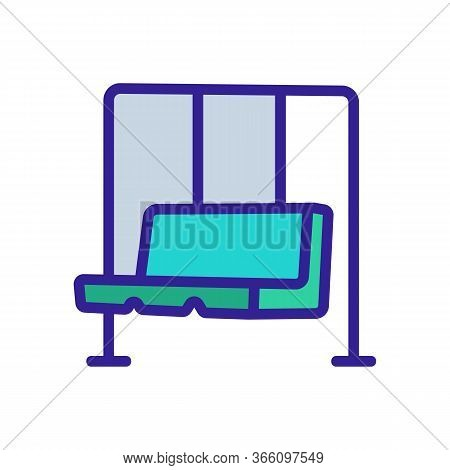 Hanging Swing In Form Of Sofa Icon Vector. Hanging Swing In Form Of Sofa Sign. Color Symbol Illustra