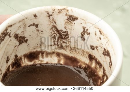 Turkish Coffee Cup With Grounds For Fortune Telling