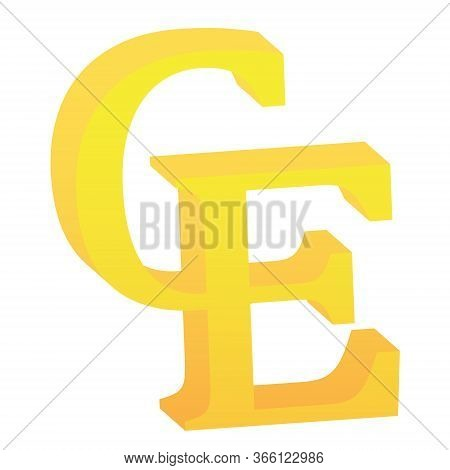 3d European Currency Unit Symbol Currency Symbol Icon Vector Illustration On A White Background