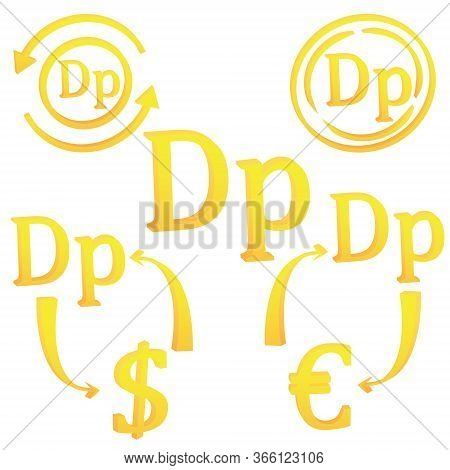 3d Drachma Greece Greek Set Currency Symbol Icon Vector Illustration On A White Background