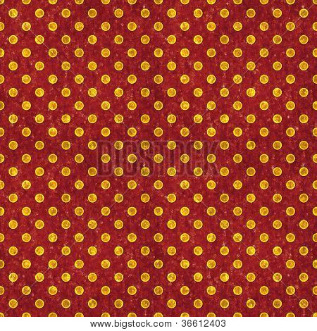 Seamless Red & Gold Polka Dot