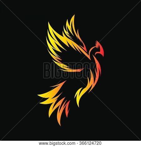 Decorative Phoenix Bird Logo Vector Concept  Eps 10 Ready To Use