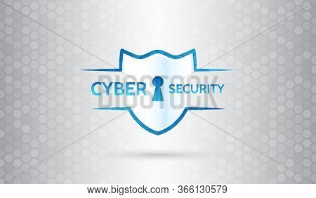 Global Network Mechanism Protection. Information Privacy. Hi-tech Communication Background. Cyber Se