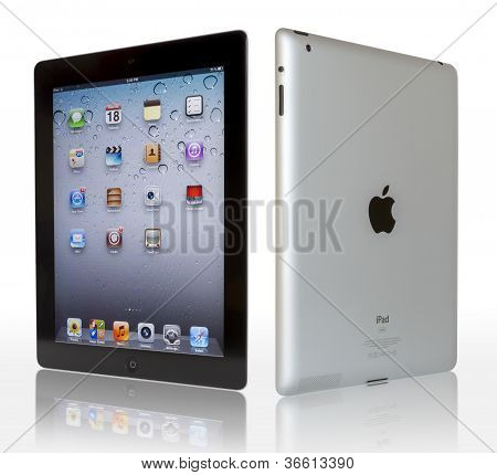 Apple Ipad With Clipping Paths