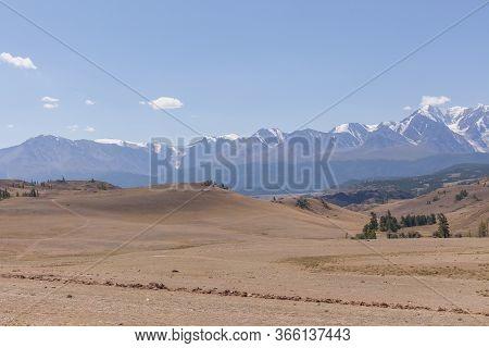 View Of Belukha Mountain. Russia.snow Mountains Of Altai. Belukha The Highest Peak Of Siberia