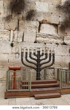 Menorah at the Western Wall