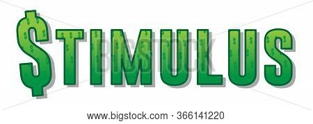 Stimulus Graphic   Economic Relief Image   Headline Design Resources   Vector Stimulus Check Typogra