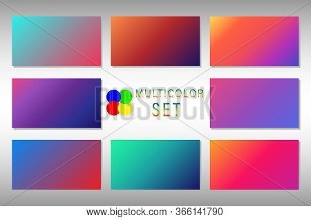 Set Of Multi-colored Abstract Colorful Backgrounds For The Best Projects