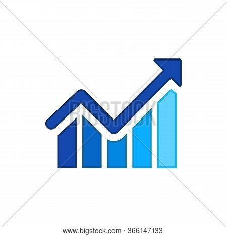 Growth Creative Symbol Concept. Increase, Bank Profit, Grow Up Arrow Abstract Business Logo. Stock F