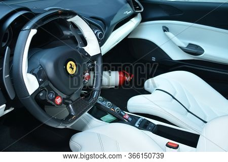 Taguig, Ph - July 13 - Ferrari Supercar Dashboard On July 13, 2019 In Bonifacio Global City, Taguig,