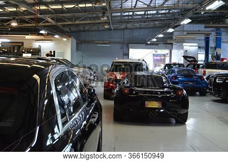 Taguig, Ph - July 13 - Mini Garage Interior On July 13, 2019 In Bonifacio Global City, Taguig, Phili