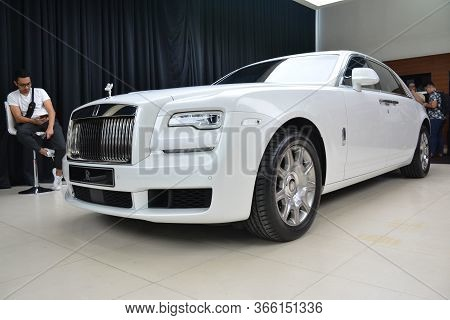 Taguig, Ph - July 13 - Rolls Royce Ghost On July 13, 2019 In Bonifacio Global City, Taguig, Philippi