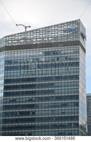 Taguig, Ph - July 13 - Philippine Stock Exchange Tower Facade On July 13, 2019 In Bonifacio Global C