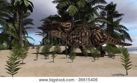 einiosaurus in jungle poster