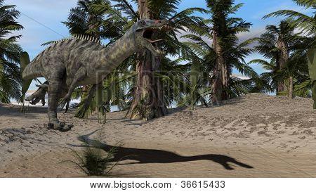 suchomimis dinosaur attack