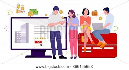 Audience Click Buy Ecommerce Advertising On Website And Owner Social Media Platform Website Search E