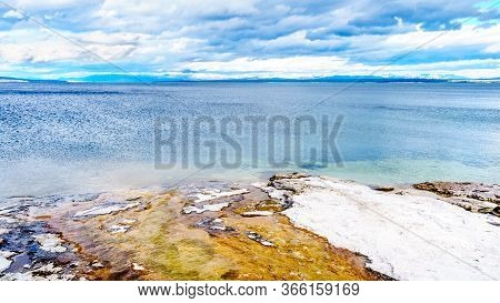 The Shoreline Of Yellowstone Lake At The West Thumb Geyser Basin In Yellowstone National Park, Wyomi
