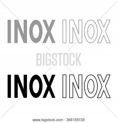 Inox Inscription Type Cooking Surfaces Sign Utensil