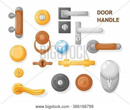 Hotel Handle Door Room Set. Door Knobs With Do Not Disturb Sign. Doorknob Handle To Lock Doors At Ho