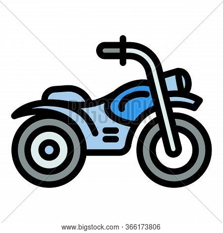 Competition Motorbike Icon. Outline Competition Motorbike Vector Icon For Web Design Isolated On Whi