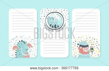 Organizer, Paper For Notes, Printable Pages, Notebook, Diary, Organizer Design Element With Cute Gno