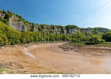 River Wye At Lancaut Nature Reserve During Low Tide