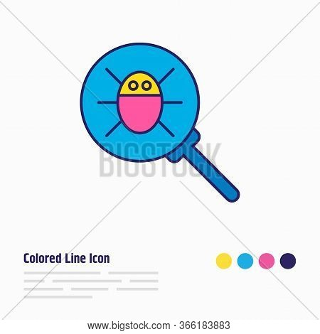 Vector Illustration Of Antivirus Icon Colored Line. Beautiful Internet Element Also Can Be Used As M