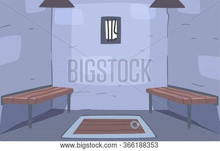 Escape Ancient Room Interior, Prison Ell, Reality Quest For People Finding Way Out E Vector Illustra
