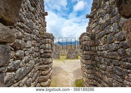 Walls Of The Ancient City Of Machu Picchu, Peru