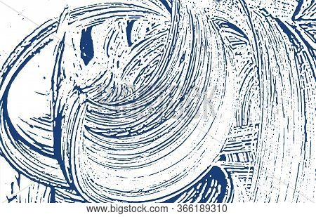 Grunge Texture. Distress Indigo Rough Trace. Dramatic Background. Noise Dirty Grunge Texture. Lively