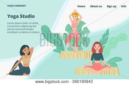 Yoga School Studio Vector Photo Free Trial Bigstock