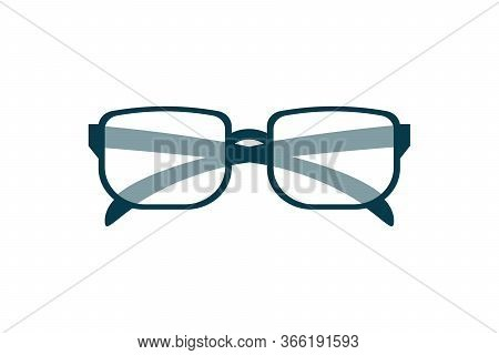 Eyeglasses Icon, Stylish Accessory, Eye Wear Design For Poster, Banner, Logo Of Optical Shop, Online