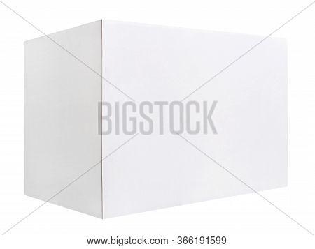 Blank White Cardboard Box Isolated On White Background