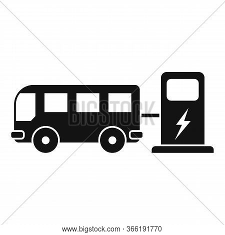 Bus Electrical Refueling Icon. Simple Illustration Of Bus Electrical Refueling Vector Icon For Web D