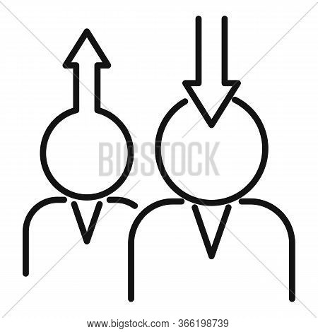Teamwork Advice Icon. Outline Teamwork Advice Vector Icon For Web Design Isolated On White Backgroun