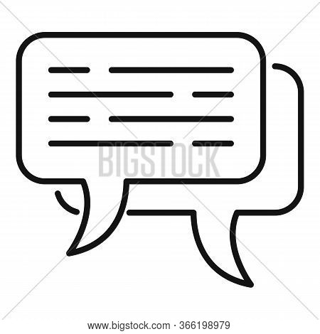 Expertise Chat Icon. Outline Expertise Chat Vector Icon For Web Design Isolated On White Background
