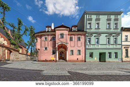 Zabkowice Slaskie, Poland. Local Landmark - The Oldest Preserved Residential Building In The Town