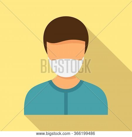 Man Mask Protect Icon. Flat Illustration Of Man Mask Protect Vector Icon For Web Design