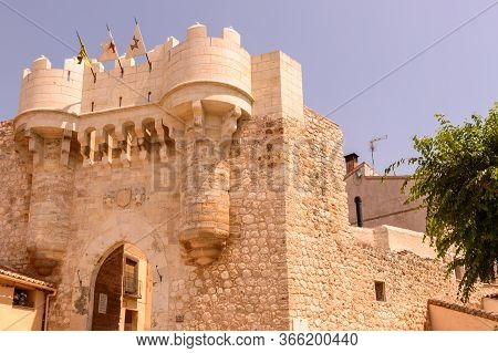 Exterior View Of The Medieval Gate Of Hita Dedicated To Juan Ruiz Archpriest In Hita Also Called Pue