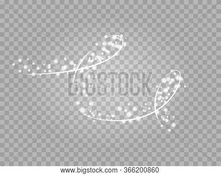 Magic Png Light Effect. Stardust Silver Glitter. Sparkle Star Dust Vector Illustration.