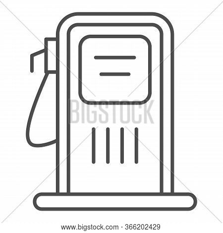 Gas Station Thin Line Icon, Transportation Symbol, Petrol Refill Station Vector Sign On White Backgr