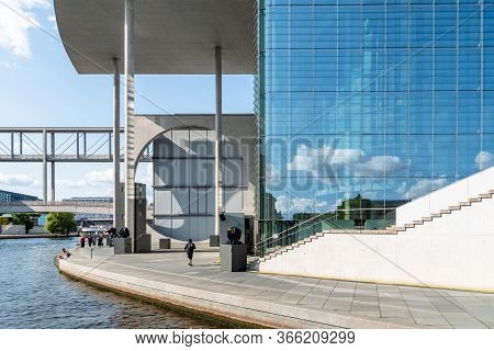 Berlin, Germany - July 27, 2019: Marie Elisabeth Luders House Modern Architecture Government Buildin