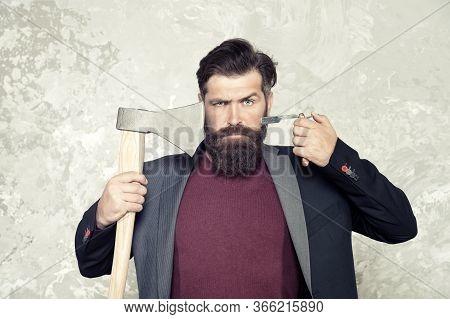 Old Weapon. Barbershop Hairstyle. Masculinity And Brutality. Vintage Barbershop. Brutal Barber. Dari