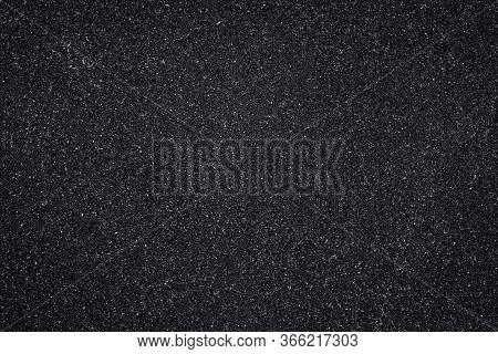 Asphalt Texture, Black Pattern Of Roadway, Grainy Surface Of Pavement. Abstract Dark Wallpaper