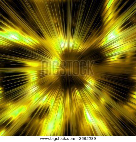 Golden Rays Background